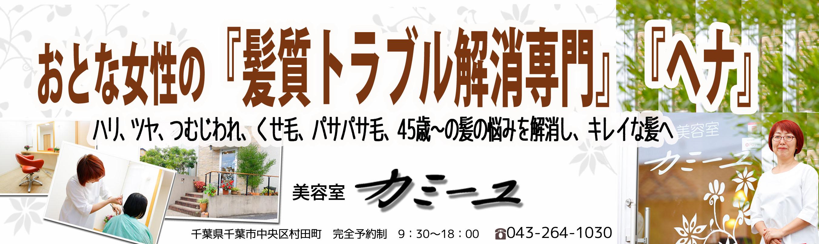 大人女性のための「髪質トラブル専門」「100%天然ヘナ」美容室 - 千葉県 浜野駅 カミーユ